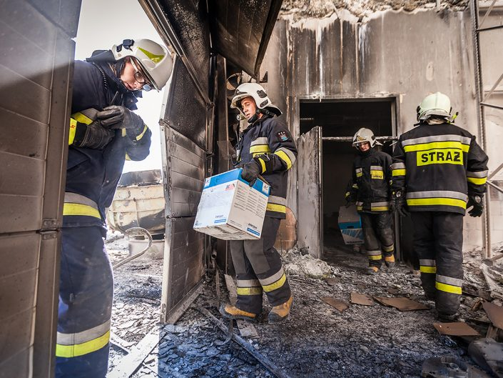 Pożar zakładu w Olszowej
