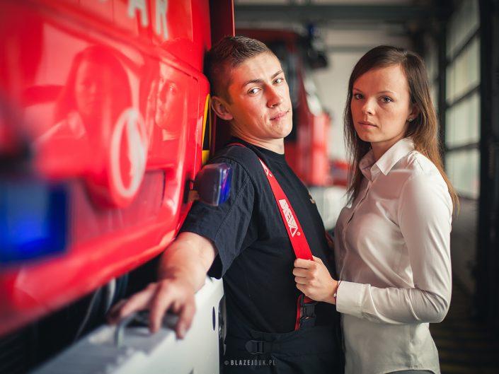 Historia miłości w strażackim kadrze